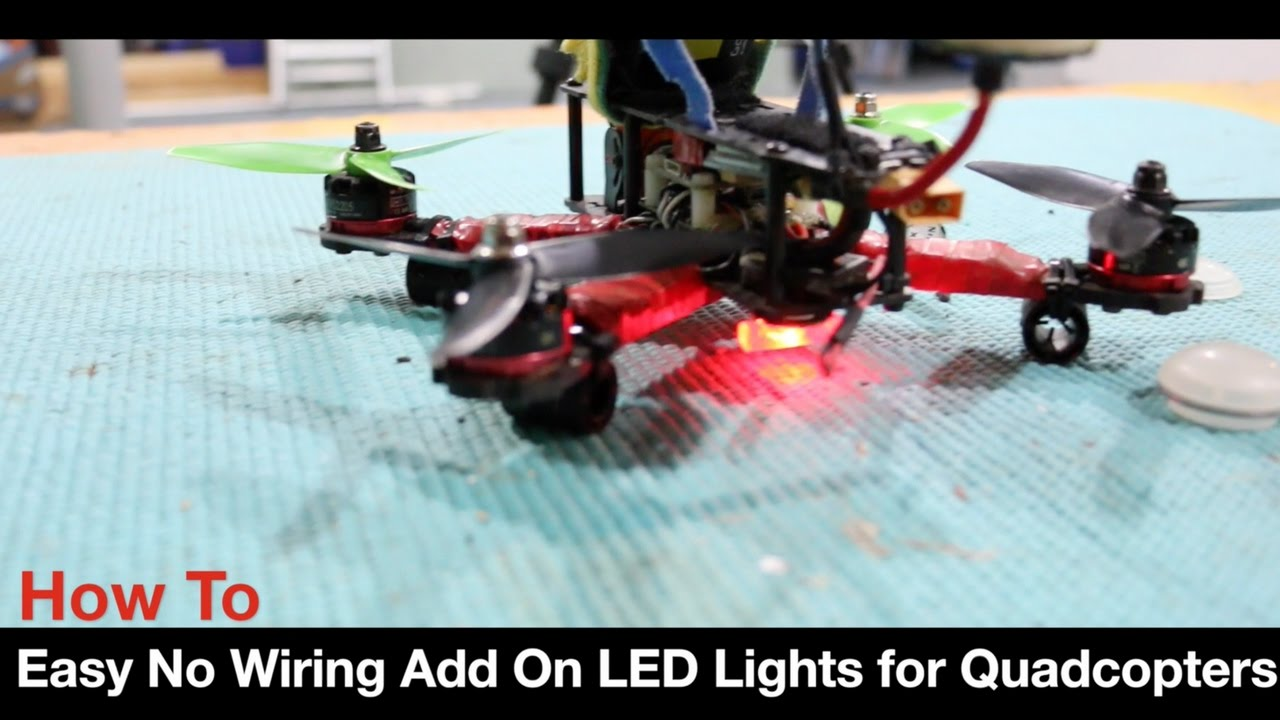 DIY Drone Lighting - No Wiring Small Watch Battery LEDs Lights - YouTube