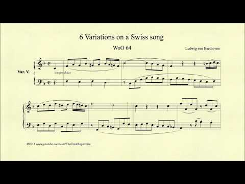 Beethoven, 6 Variations On A Swiss Song, WoO 64, Var. V