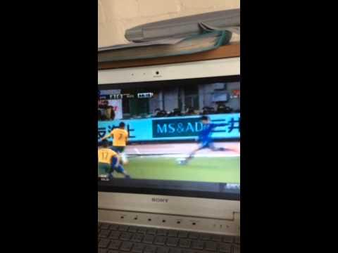 日本対オーストラリア 岡崎のゴール Japan vs Australia, Okazaki's goal