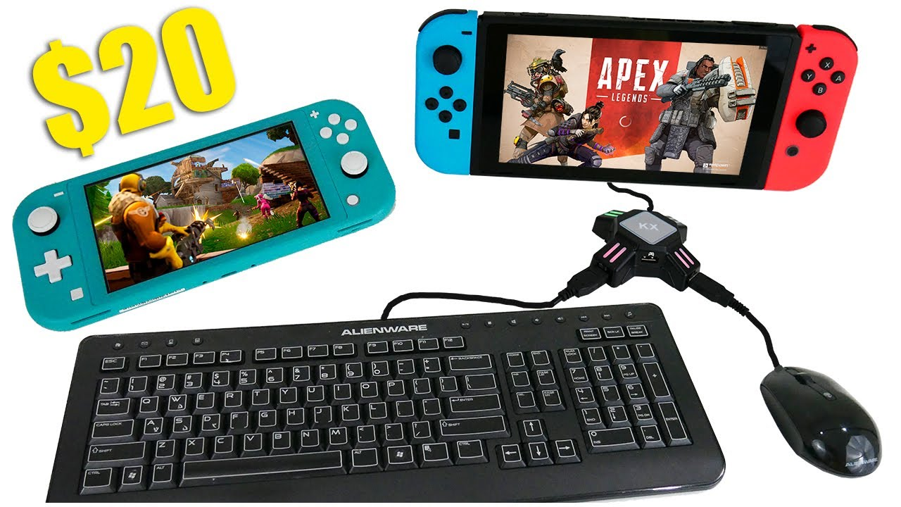 "$20 ""KX Adapter"" Keyboard and Mouse for Nintendo Switch and Switch Lite"
