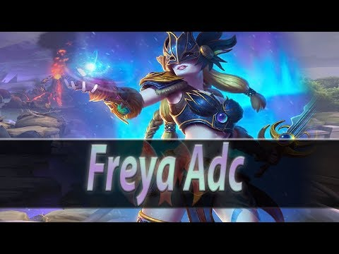 Smite: Conquista Freya Adc - Vai pro TOP BAN! Certeza!! Life Steal Brokeeen