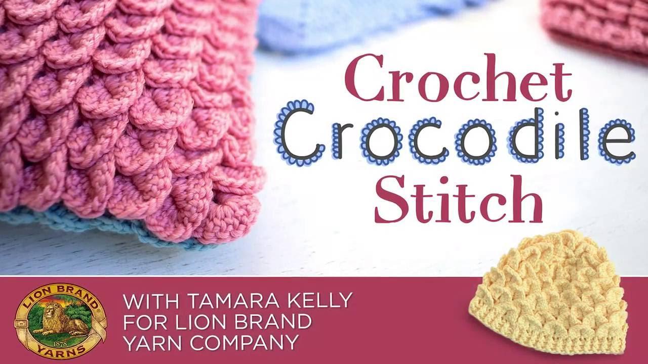 Crochet Crocodile Stitch With Tamara Kelly For Lion Brand Yarn
