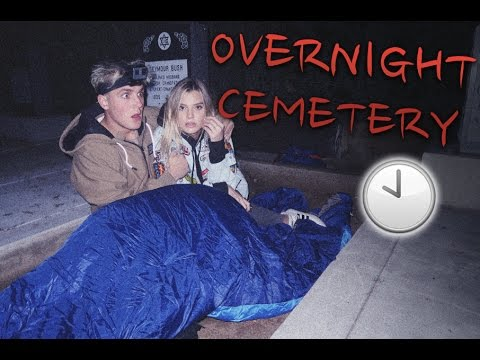 Thumbnail: 24 HOUR OVERNIGHT CHALLENGE IN HAUNTED CEMETERY (SHE CRIED)