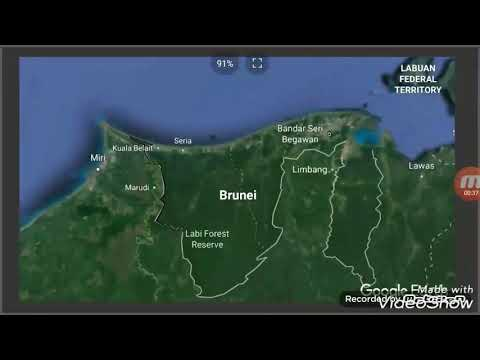 Flag Map Speed Art: Brunei