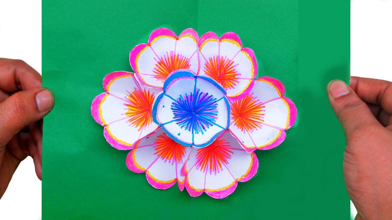 How to make a 3d flower pop up greeting card paper quilling art how to make a 3d flower pop up greeting card paper quilling art m4hsunfo Image collections