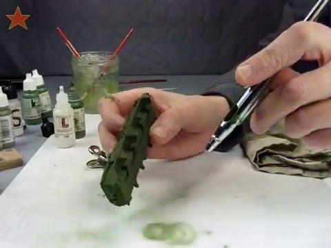 BTR80 Mise en peinture ép 2 : Couches primaires vert (Tuto modèle réduit) - YouTube