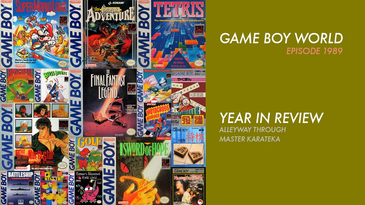 Game Boy World  Year In Review Youtube