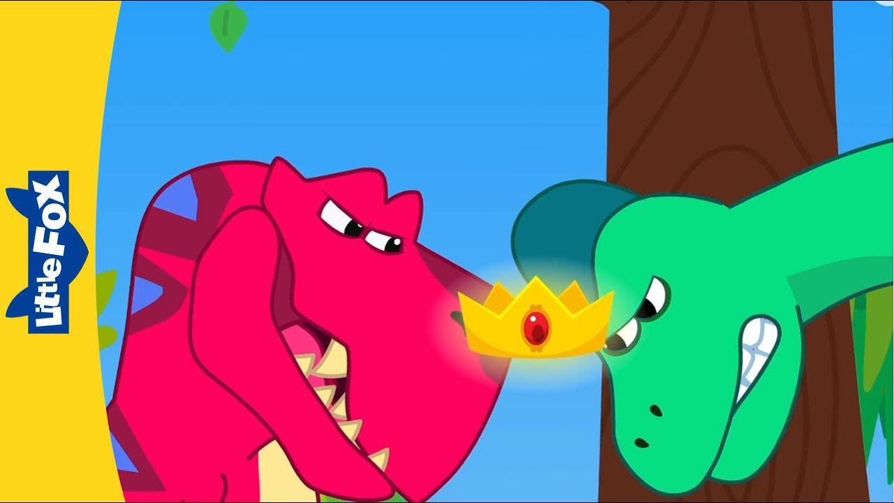 영어동요   공룡동요   티라노사우루스와 브라키오사우루스의 왕관 쟁탈전! 👑