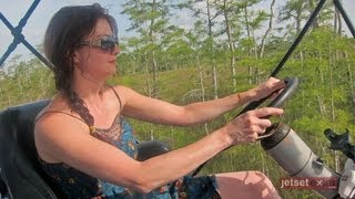 Swamp Buggy Ride through the Florida Everglades