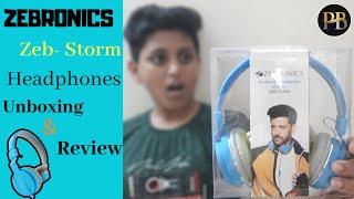 Best Headphone Zebronics ZEB-STORM Headphones Best under Budget Unboxing amp Review