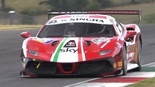 2020 Ferrari Challenge at Mugello Circuit! - Ferrari 488 Challenge Evo Racing on Track!