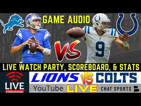 Lions vs. Colts Live Streaming Scoreboard, PlayByPlay, Game Audio & Highlights | NFL Preseason