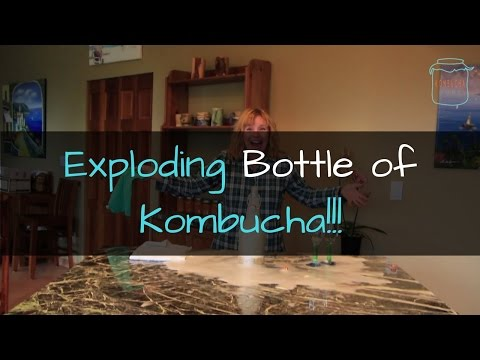 What Happens When You Ferment Kombucha Too Long: How NOT to Open Your Bottle