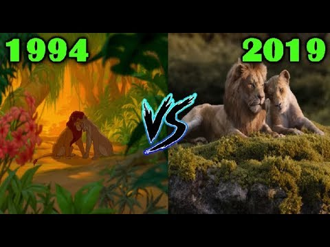 Can You Feel The Love Tonight 1994 Vs 2019 The Lion King