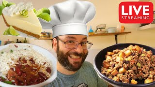 Red Beans & Rice, Picadillo Cubano, & Key Lime Pie! | October 6th Cooking Live Stream