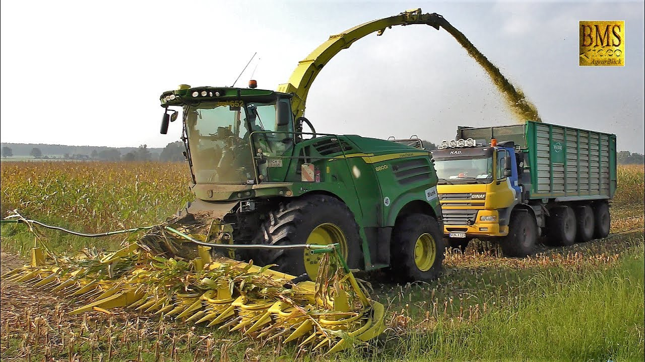Fabelhaft Maishäckseln - Häcksler John Deere 8800i Biogasanlage - Maisernte &AP_19