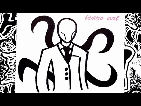 Como dibujar a slenderman | how to draw slenderman | como desenhar slender man
