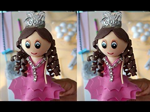 b96370b9fd0 Fofucha princesa en lapiz - YouTube
