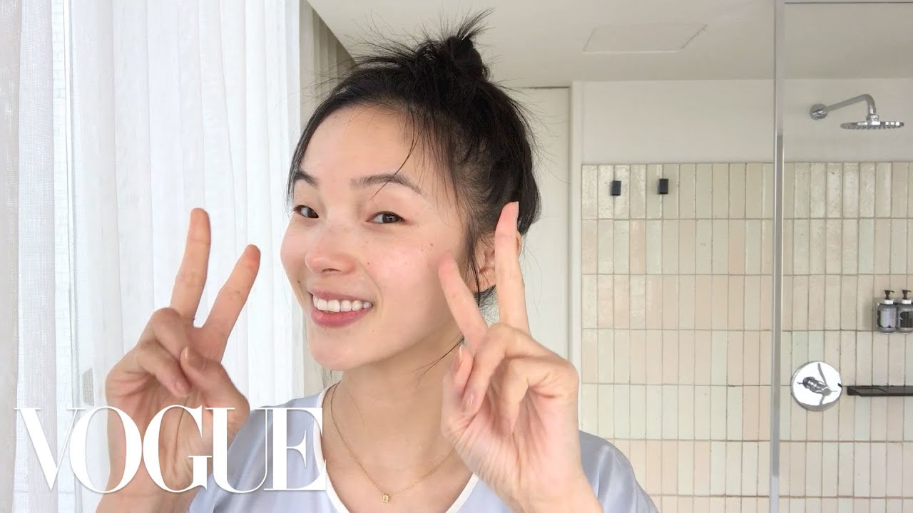 Model Xiao Wen Ju's 9-Step Nighttime Skincare Routine | Beauty Secrets | Vogue