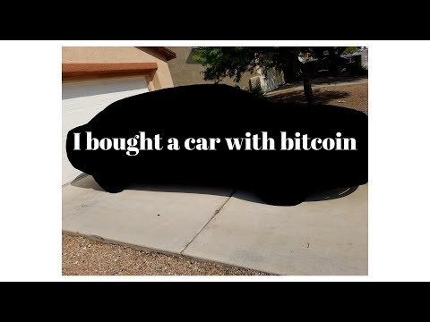 I bought a car with bitcoin