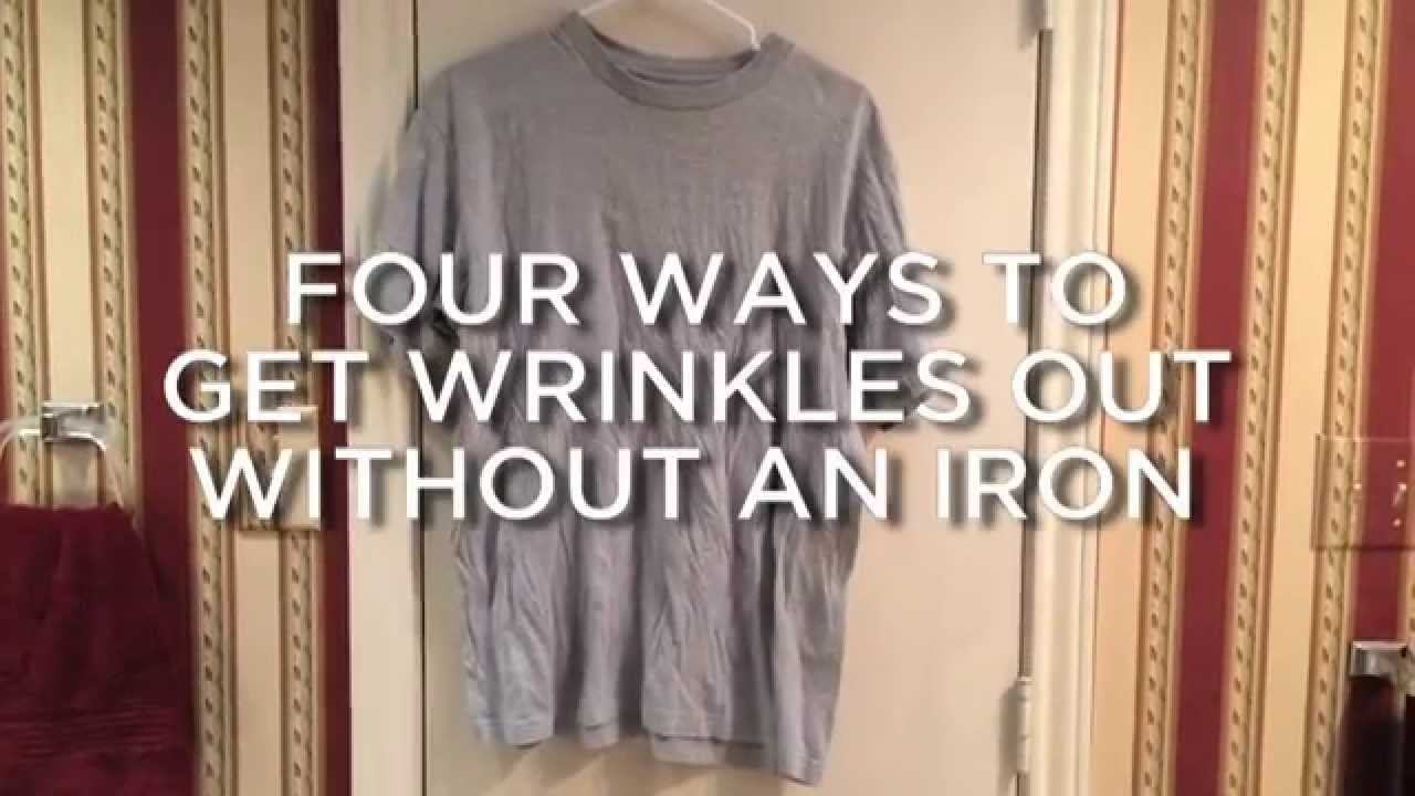 Wrinkled Shirt Fast Fix No Iron Required Youtube