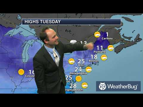 Tuesday's North Eastern Regional Weather Outlook   Jan 02, 2018