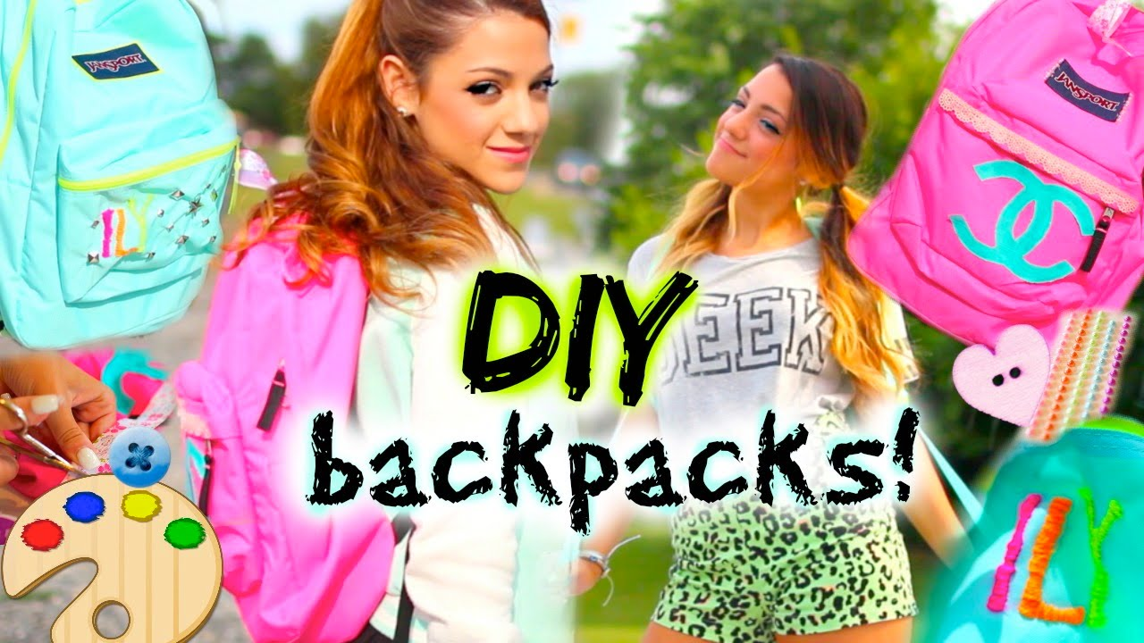 Back To School: Diy Personalized Backpacks! ™�