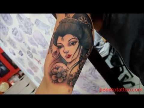Bebeto Tattoo studio - Tatuagem de Gueixa em andamento - geisha tattoo - in progress