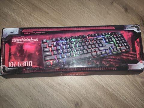 Дешёвая клавиатура с подсветкой KEYBOARD HK-6300 Или как красиво на*бать на деньги!