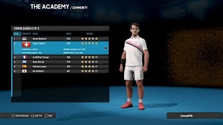 AO International Tennis - How To Download Players | Logos | Stadiums - PS4/Xbox One/Steam