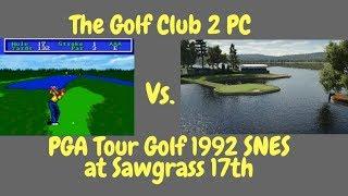PGA Tour Golf (SNES) Vs. The Golf Club 2 (PC) 17th at TPC Sawgrass 1992 vs. 2017 Graphics