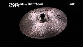 "16"" Crash Paper Thin Natural video"