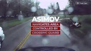 Asimov Autonomously Stop For Crossing Guard