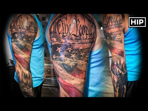 American Flag Tattoo Sleeve | HIP