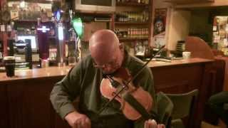 "Newtowncunningham: Dinny McLaughlin Slow Air for ""Johnny Fullerton"" Donegal Fiddle Playing: Ireland"
