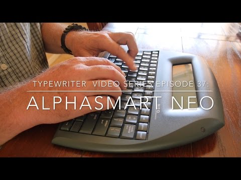 Typewriter Video Series Episode 37: AlphaSmart Neo