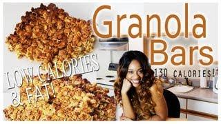 Low Calorie Snack \\granola Bars// Easy Recipe ✰✰