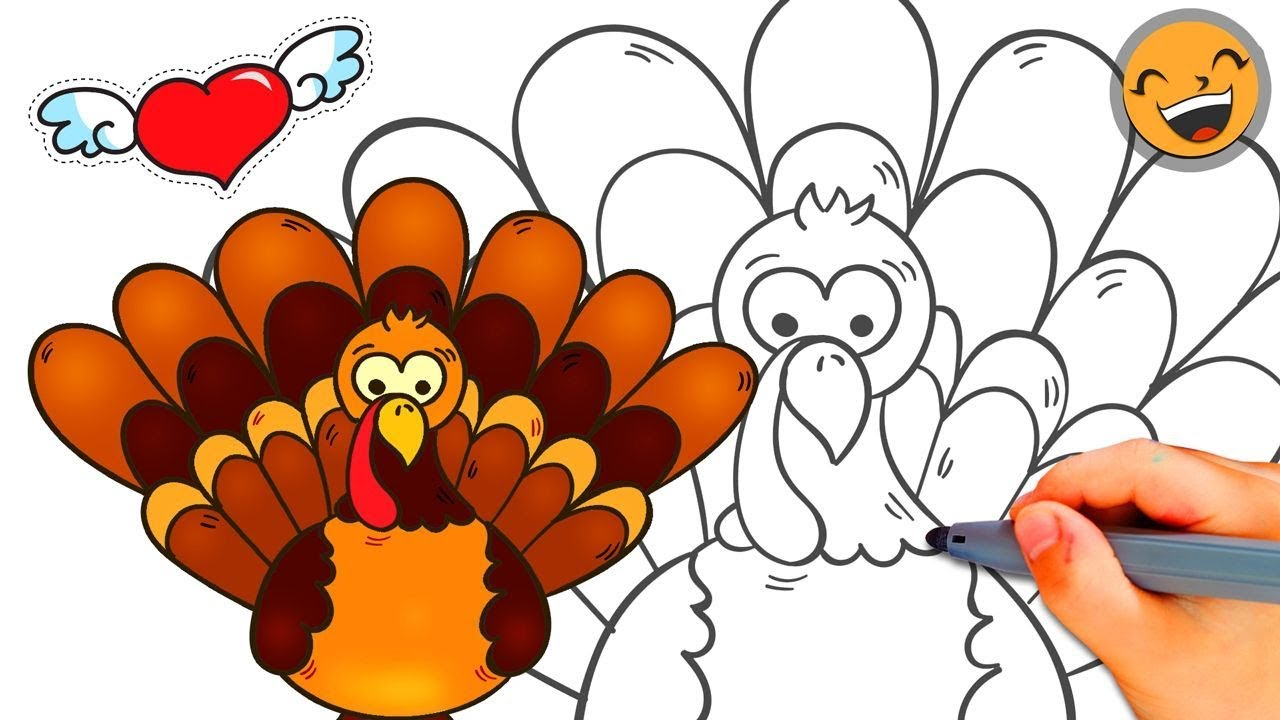 How To Draw A Thanksgiving Turkey Easy - How To Draw A ...