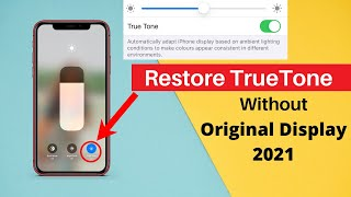 How to restore True Tone on iPhone without original screen!Restore True Tone on Copy LCD too.