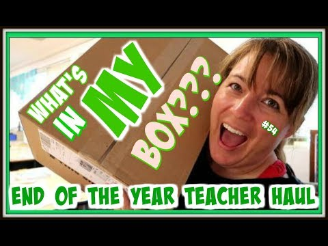 WHAT'S IN MY BOX??? l END OF YEAR TEACHER HAUL l TEACHER VLOG l THE NOT SO SECRET LIFE OF A TEACHER