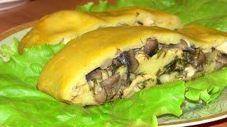 Картофельный рулет с куриной грудкой и грибами / Вкусные рецепты в духовке