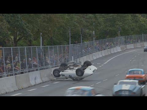 Copenhagen Historic Grand Prix (Klasse B 65-klassen) 2017. Bellahøj Park. Crash Flip