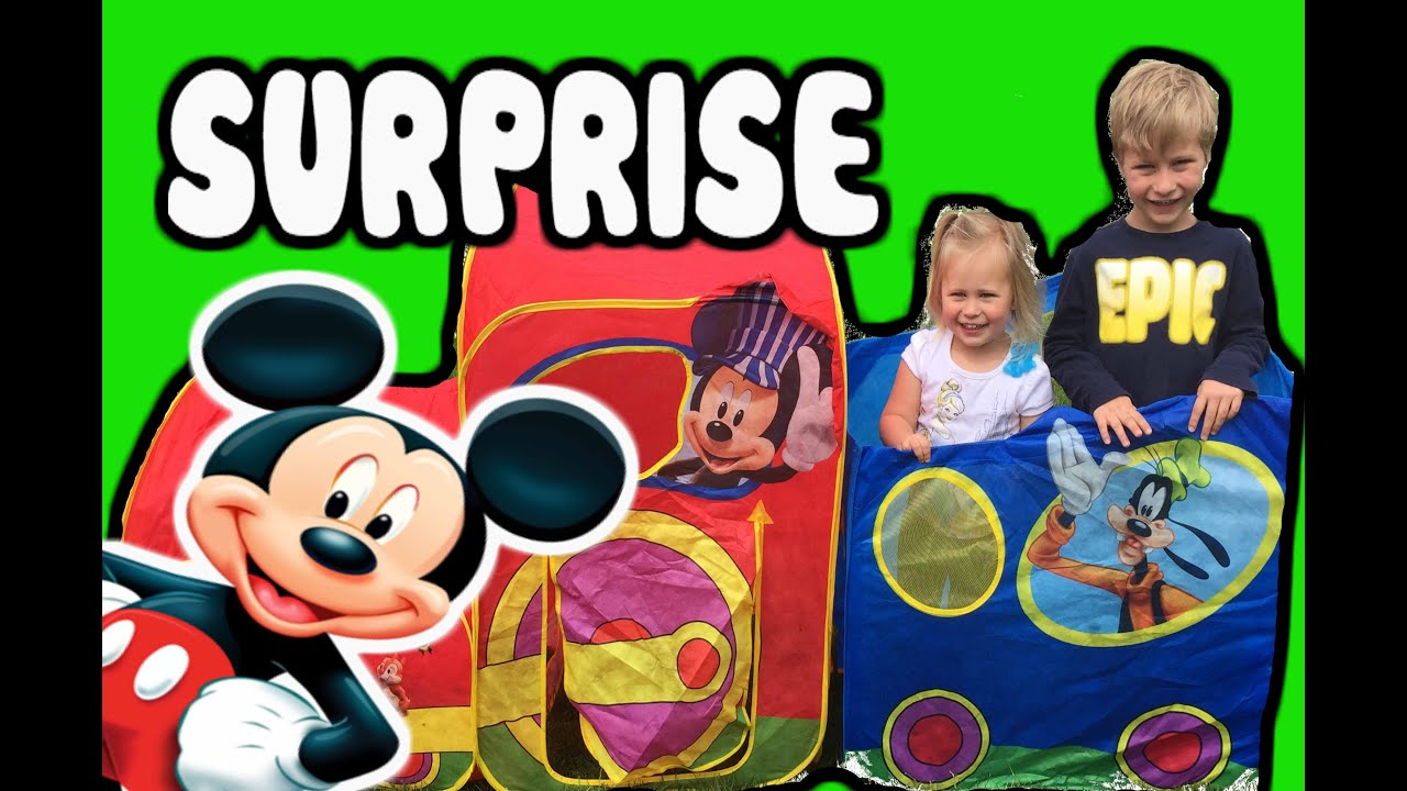 MICKEY MOUSE CLUBHOUSE Surprise Tent Train with Mickey Mouse Toys Minnie Mouse Toys and Bubbles!  sc 1 st  YouTube & MICKEY MOUSE CLUBHOUSE Surprise Tent Train with Mickey Mouse Toys ...