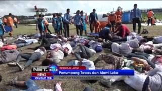 Download Pesawat Airbus Mendarat Darurat dan Terbakar di Bandara Juanda - NET24