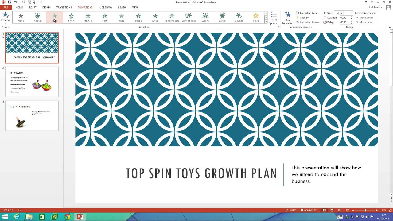 how to create a slideshow on powerpoint 2013