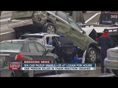 Massive 104-car Pileup On I-25 In Denver