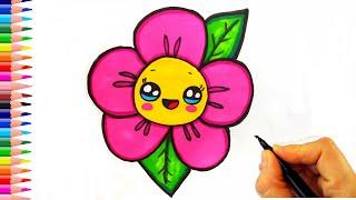 Sevimli Çiçek Çizimi - Çiçek Nasıl Çizilir - Kolay Çizimler - How To Draw a Flower