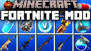 Minecraft FORTNITE MOD | BATTLE FOR V-BUCKS! | Modded Mini-Game