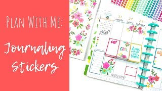 Plan With Me | Journaling Stickers