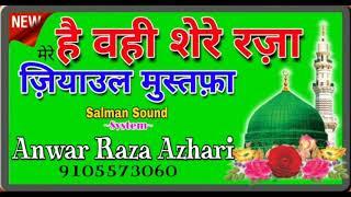 है वही शेरे रज़ा---Naats 2018--Anwar Raza Azhari------New Islamic Naat 2018